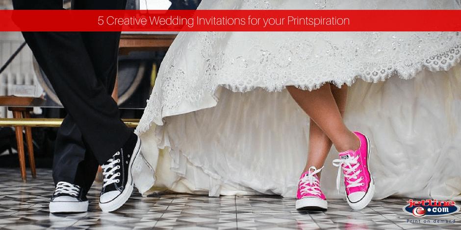 Creative wedding invitations for your printspiration