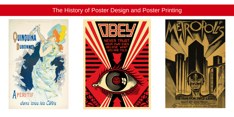The history of poster design and poster printing