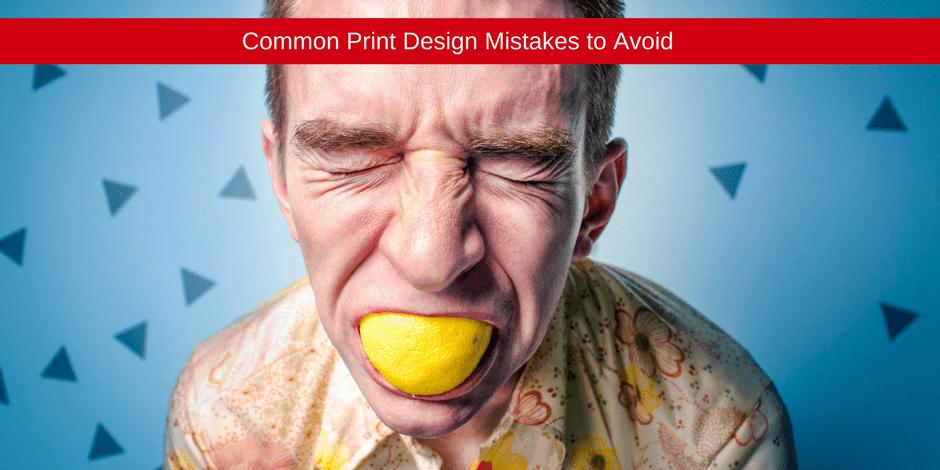 Common print design mistake
