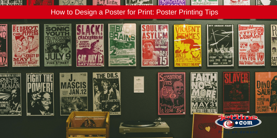 Design a poster for print