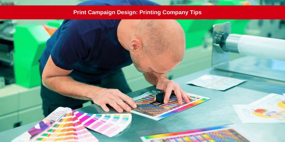 Print campaign design