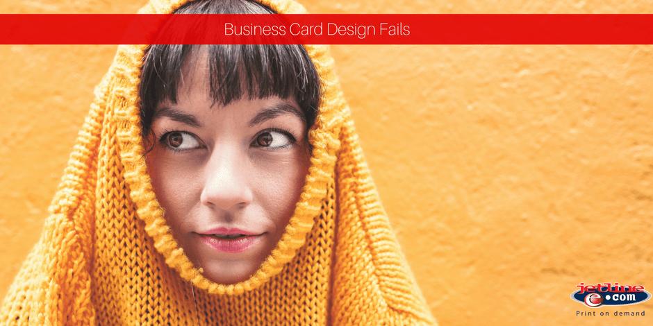 Business card design fails