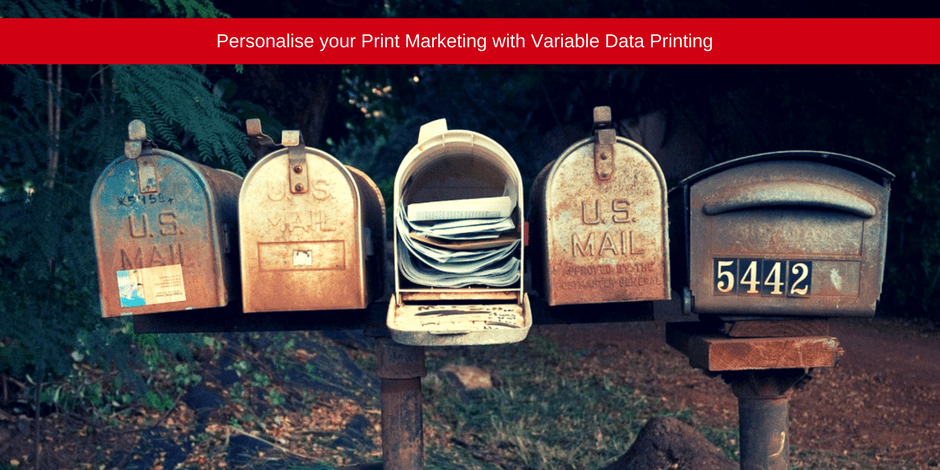 Personalise your print marketing