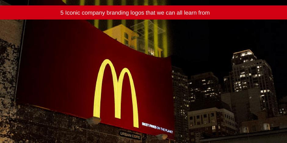 Five iconic company branding logos