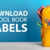 Download school book labels
