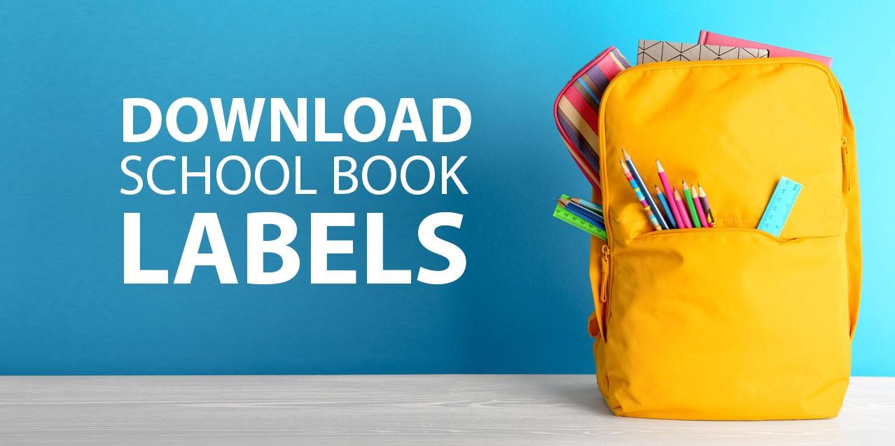 school book labels